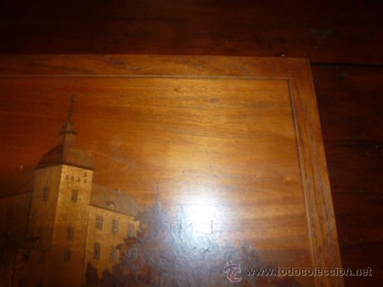 Antigüedades: panel de marqueteria para mueble - Foto 2 - 34645736