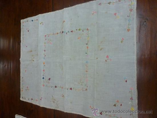 Antigüedades: mantel color bordadas mallorca - Foto 9 - 34670040