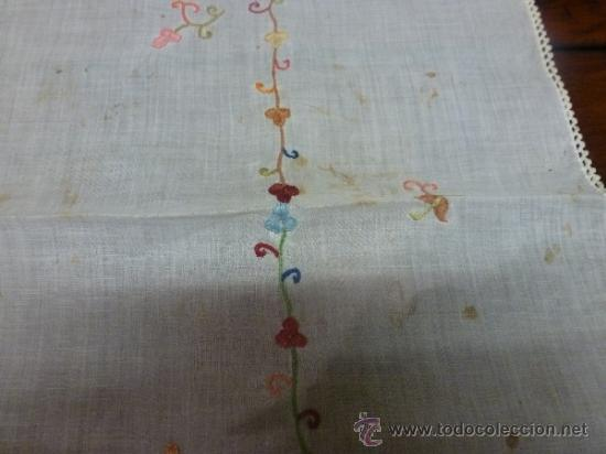Antigüedades: mantel color bordadas mallorca - Foto 4 - 34670040