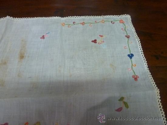 Antigüedades: mantel color bordadas mallorca - Foto 3 - 34670040