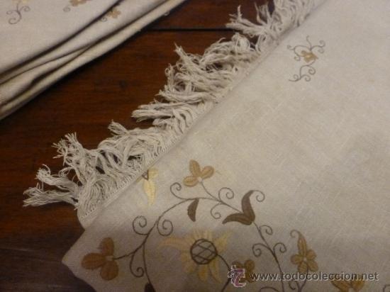 Antigüedades: mantel con 6 servilletas mallorca varias - Foto 11 - 34670928