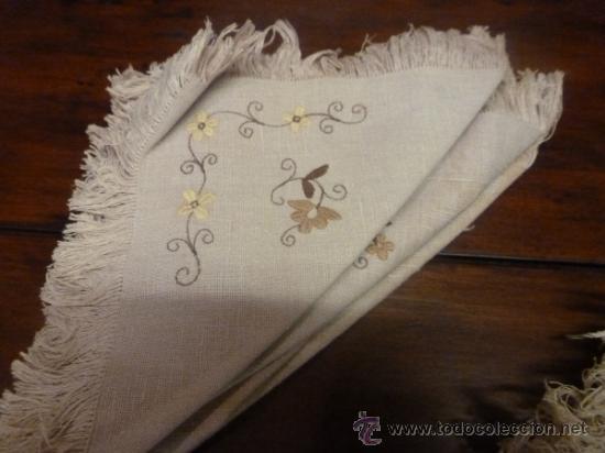 Antigüedades: mantel con 6 servilletas mallorca varias - Foto 10 - 34670928