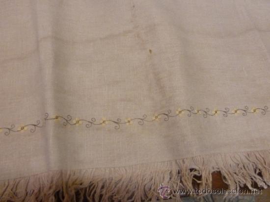 Antigüedades: mantel con 6 servilletas mallorca varias - Foto 4 - 34670928