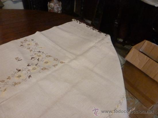Antigüedades: mantel con 6 servilletas mallorca varias - Foto 3 - 34670928