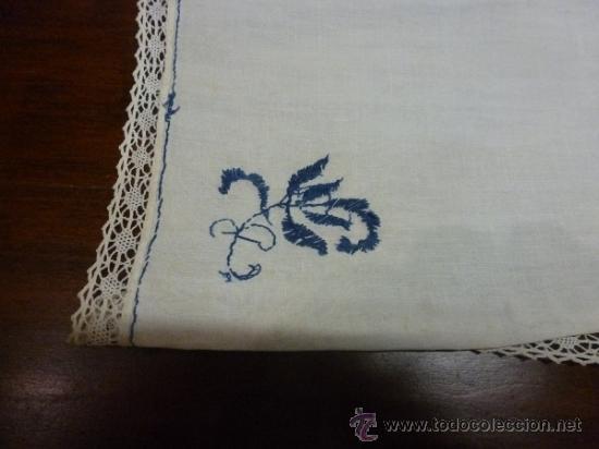 Antigüedades: mantel azul mallorca varias - Foto 8 - 34670917