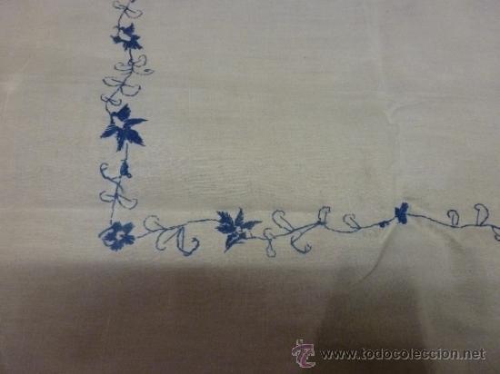 Antigüedades: mantel azul mallorca varias - Foto 7 - 34670917