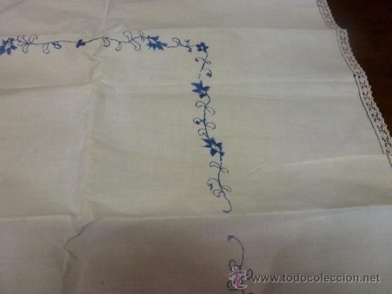 Antigüedades: mantel azul mallorca varias - Foto 6 - 34670917