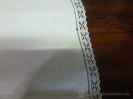 Antigüedades: mantel azul mallorca varias - Foto 5 - 34670917