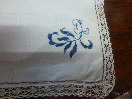 Antigüedades: mantel azul mallorca varias - Foto 4 - 34670917