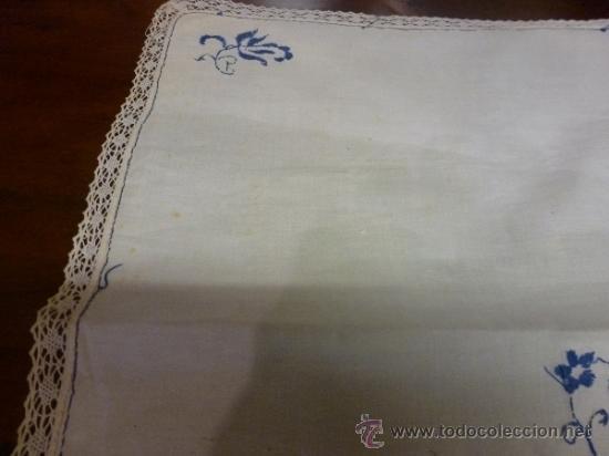 Antigüedades: mantel azul mallorca varias - Foto 3 - 34670917
