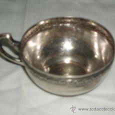 Antigüedades: TAZA ANTIGUA DE ALPACA. Lote 34691543