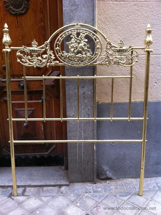 Cabecero de cama bronce dorado 110 cms comprar camas - Cabeceros cama antiguos ...