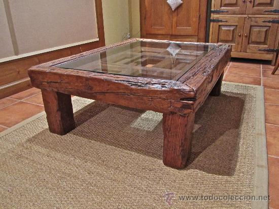 Mesa rustica de centro de 120x90 cms comprar mesas for Mesas de centro antiguas