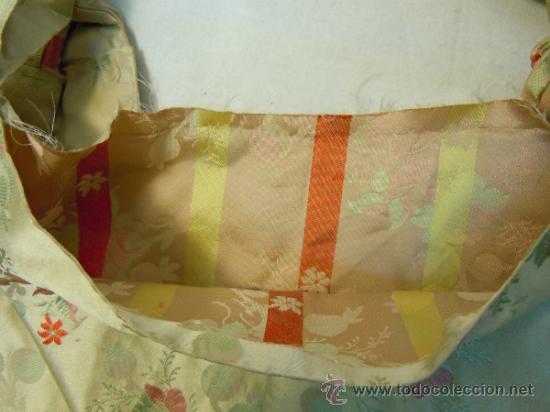 Antigüedades: FUNDA ANTIGUA DE COJIN DE DAMASCO DE SEDA - Foto 7 - 34748388