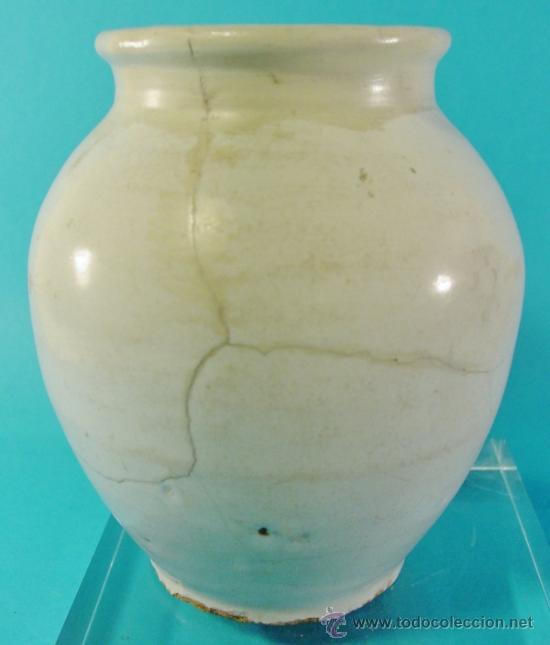 Antigüedades: PEQUEÑA ORZA EN CERÁMICA DECORADA. TALAVERA. SIGLO XVIII. - Foto 2 - 34766115