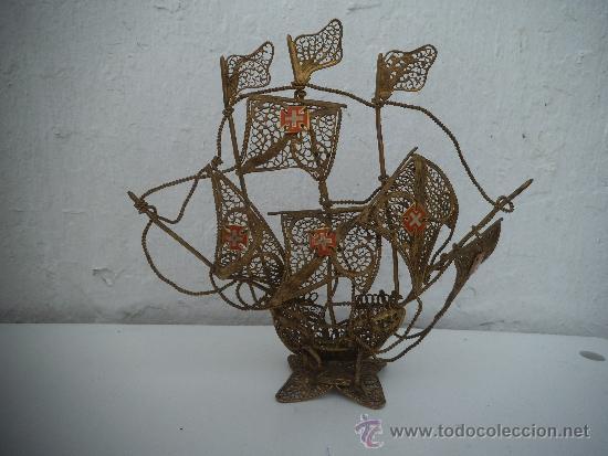 Figura de barco en alambre de metal comprar figuras - Antiguedades de barcos ...