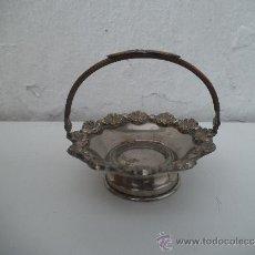 Antigüedades: PEQUEÑO CESTO DE ALPACAR. Lote 34747255