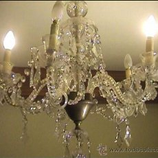 Antigüedades: LAMPARA TOTALMENTE RESTAURADA CRISTAL LAGRIMAS. Lote 34752142