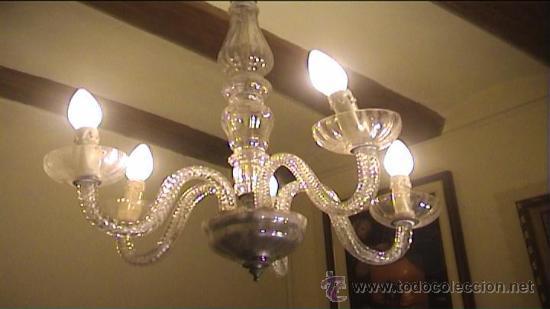 Antigüedades: LAMPARA TOTALMENTE RESTAURADA CRISTAL LAGRIMAS - Foto 2 - 41436621