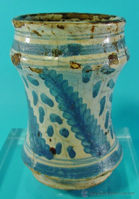 PEQUEÑO TARRO DE FARMACIA. ARAGÓN. SIGLO XVII-XVIII. . (Antigüedades - Porcelanas y Cerámicas - Teruel)