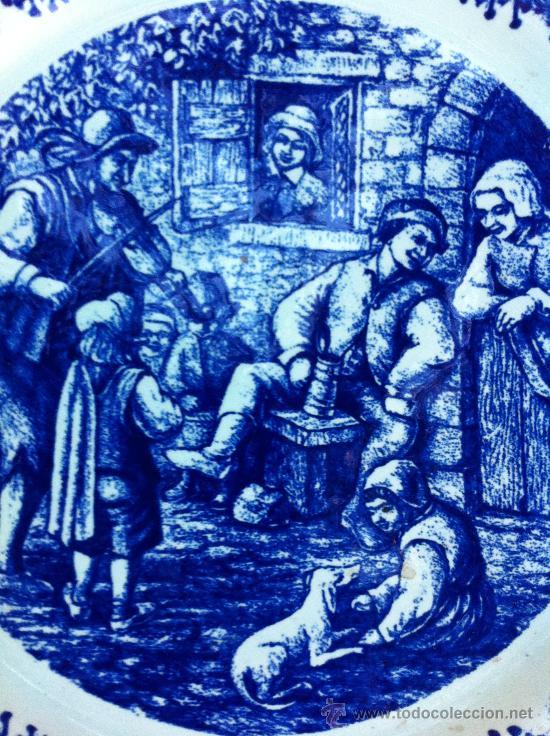 Antigüedades: PLATO MUY GRANDE PARA DECORACION SELLADO DELFT - Foto 2 - 34786949