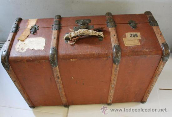 Baul maleta de madera a os 20 30 por restaura comprar - Restaurar baules antiguos ...