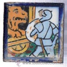 Antigüedades: AZULEJO CERÁMICA SEVILLANA S.XIX, 7 POR 7CM, SEVILLA. Lote 34773491