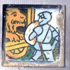 Antigüedades: AZULEJO CERÁMICA SEVILLANA S.XIX, 7 POR 7CM, SEVILLA. Lote 34773494