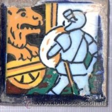 Antigüedades: AZULEJO CERÁMICA SEVILLANA S.XIX, 7 POR 7CM, SEVILLA. Lote 34773509