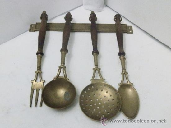antiguo juego de cocina en bronce - Comprar Utensilios del Hogar ...