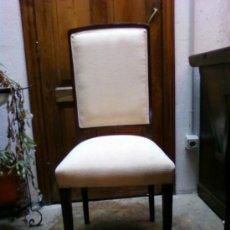 Antigüedades: SILLA DE ROBLE. TAPIZADA. Lote 34850095