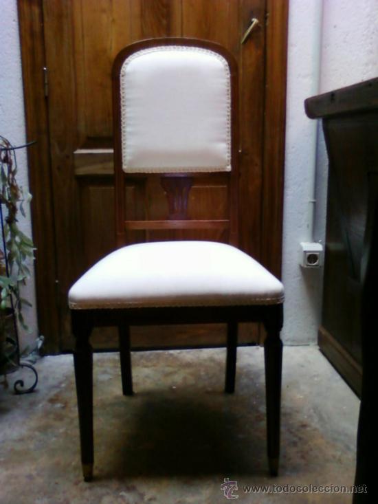 SILLA TAPIZADA (Antigüedades - Muebles Antiguos - Sillas Antiguas)