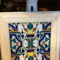 Antigüedades - panel de azulejos modernistas de manises - 34860743