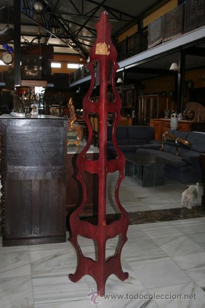 Antigüedades: ESTANTERÍA ESQUINERA EN CAOBA REF.5330 - Foto 3 - 34907573