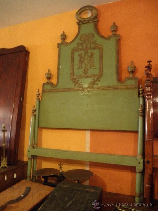 EXTRAODINÁRIA CAMA DE OLOT TOTALMENTE ORIGINAL (Antigüedades - Muebles Antiguos - Camas Antiguas)