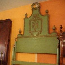Antigüedades: EXTRAODINÁRIA CAMA DE OLOT TOTALMENTE ORIGINAL. Lote 34872284