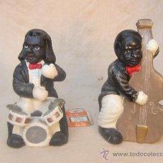 Antigüedades: PAREJA DE MUSICOS EN CERAMICA. Lote 34884971