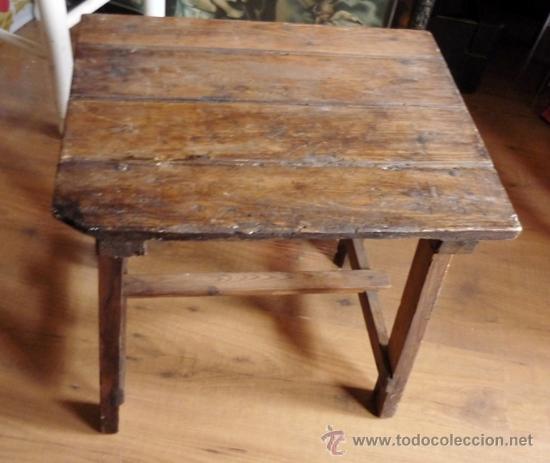 Mesa tocinera murciana muy antigua de madera comprar for Mesas antiguas