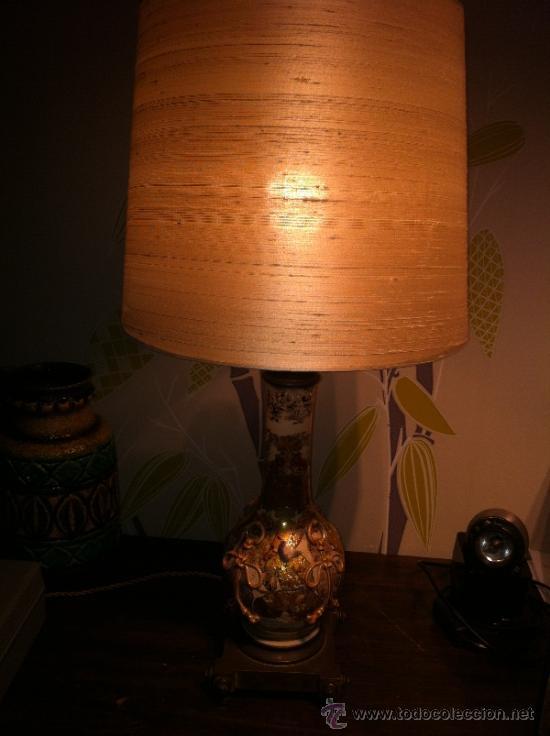 Antigüedades: lampara de porcelana satsuma japonesa principios siglo XX - Foto 15 - 34524378