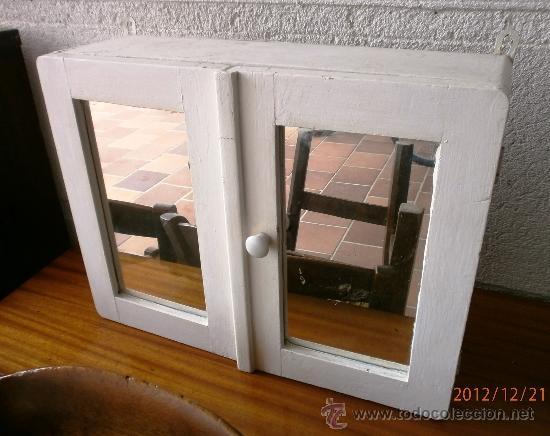 Armario peque o mueble de ba o antiguo de dos comprar - Restaurar armarios antiguos ...