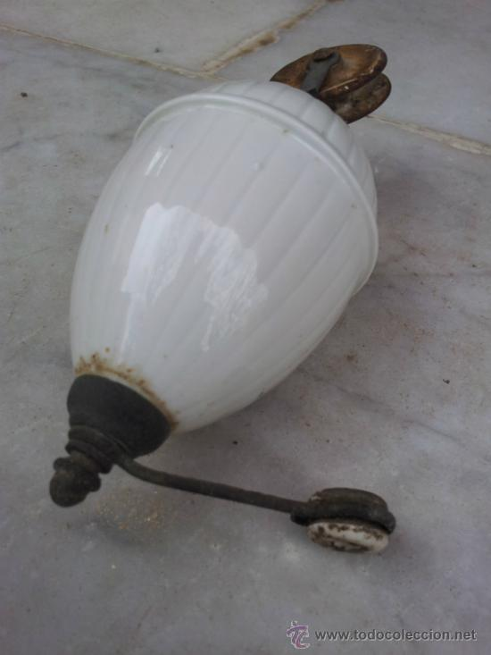 Antigüedades: Antiguo contrapeso para lampara en porcelana - Foto 3 - 34503550