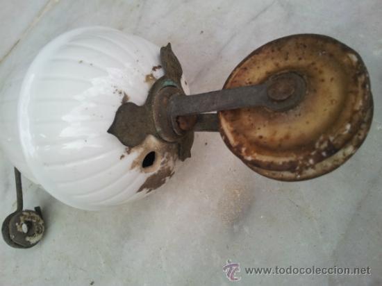 Antigüedades: Antiguo contrapeso para lampara en porcelana - Foto 6 - 34503550