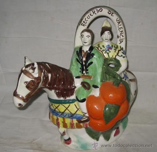 BOTIJO DE MANISES RECUERDO DE VALENCIA (Antigüedades - Porcelanas y Cerámicas - Manises)