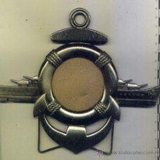 Antigüedades: MARCO DE FOTO CON SILUETA DE BUQUE DE GUERRA. Lote 34968647
