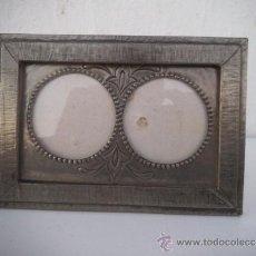 Antigüedades: PORTA FOTOS ESTAÑO. Lote 34977907