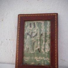 Antigüedades: PORTA FOTOS PIEL. Lote 34977951