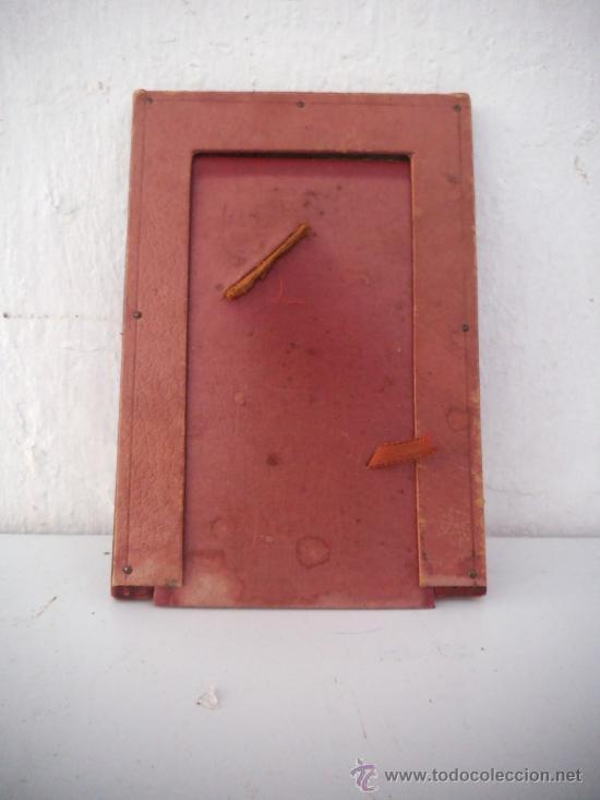 Antigüedades: porta fotos piel - Foto 2 - 34977951