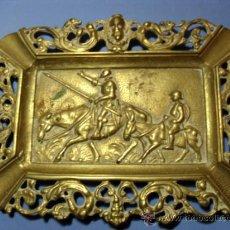 Antigüedades: CENICERO D.QUIJOTE Y SANCHO.AÑOS 30-40. Lote 34984404
