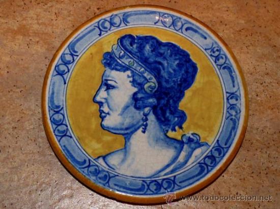 ANTIGUO PLATO DE CERÁMICA.TRIANA.MENSAQUE RODRIGUEZ I CIA S.A. SEVILLA (Antigüedades - Hogar y Decoración - Platos Antiguos)