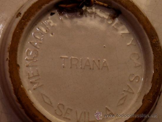 Antigüedades: antiguo plato de cerámica.Triana.Mensaque Rodriguez i Cia S.A. Sevilla - Foto 3 - 34986233